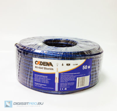Кабель Cadena RG-6SAT BlueSilk 50м